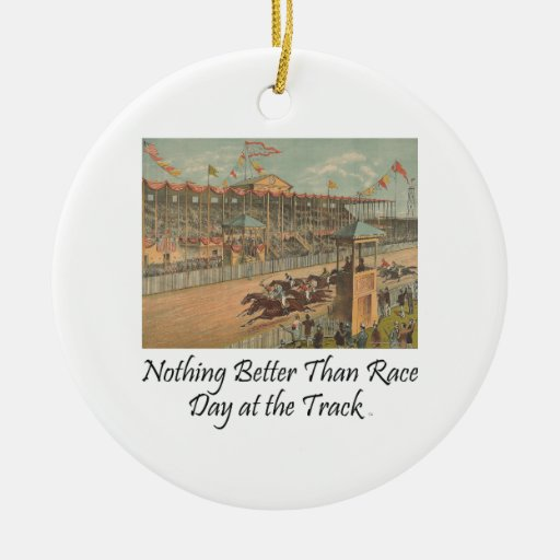 TOP Race Day at the Track Christmas Tree Ornaments