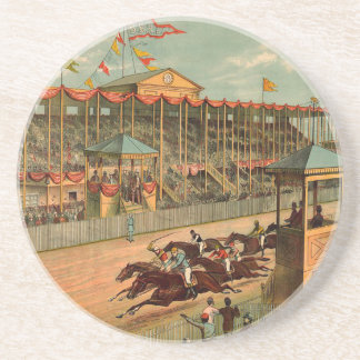 TOP Race Day at the Track Beverage Coaster