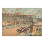 TOP Race Day at the Track 5x7 Paper Invitation Card