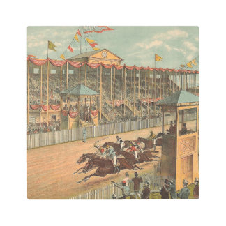 TOP Race Day at the Track Metal Print