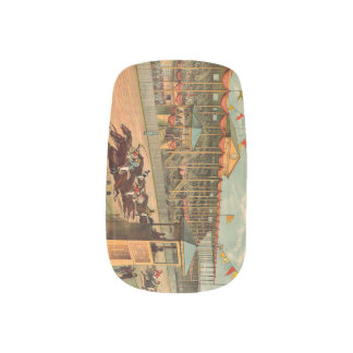 TOP Race Day at the Track Minx Nail Wraps