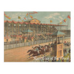 TOP Race Day at the Track Postcard