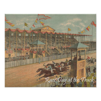 TOP Race Day at the Track Poster