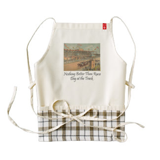 TOP Race Day at the Track Zazzle HEART Apron