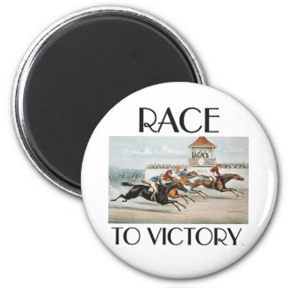 TOP Race to Victory 2 Inch Round Magnet