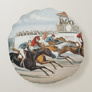 TOP Race to Victory Round Pillow