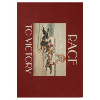 TOP Race to Victory Wood Poster