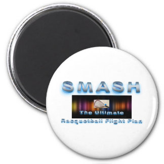TOP Racquetball Slogan 2 Inch Round Magnet