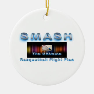 TOP Racquetball Slogan Double-Sided Ceramic Round Christmas Ornament