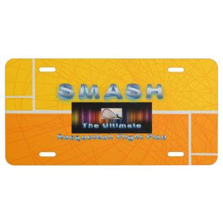 TOP Racquetball Smash License Plate