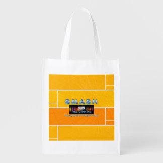TOP Racquetball Smash Reusable Grocery Bag