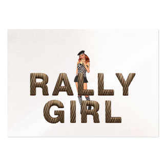TOP Rally Girl Large Business Cards (Pack Of 100)