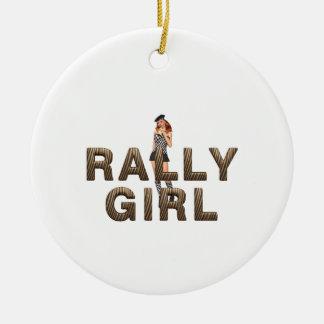 TOP Rally Girl Ceramic Ornament