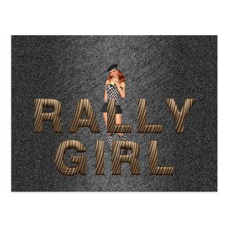 TOP Rally Girl Postcard