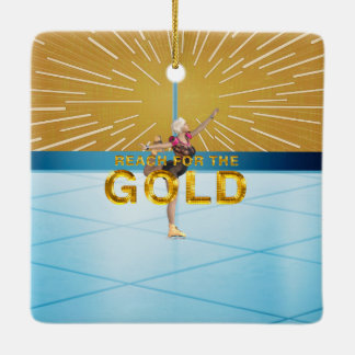 TOP Reach for the Gold Ceramic Ornament