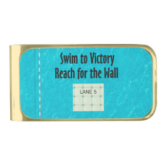 TOP Reach for the Wall Gold Finish Money Clip