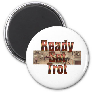 TOP Ready Set Trot 2 Inch Round Magnet