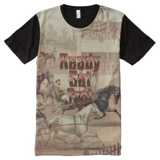 TOP Ready Set Trot All-Over Print T-shirt