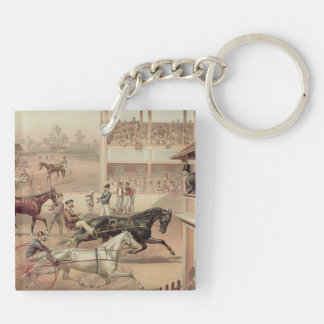TOP Ready Set Trot Double-Sided Square Acrylic Keychain
