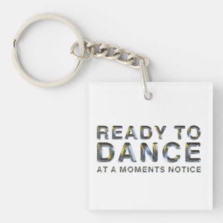 TOP Ready to Dance Double-Sided Square Acrylic Keychain