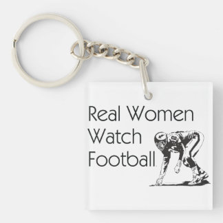 TOP Real Women Watch Football Acrylic Key Chain