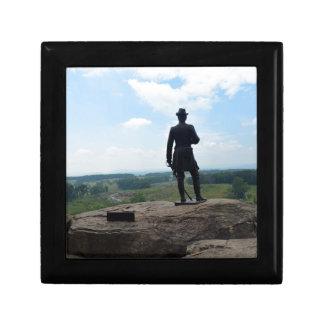 Top redondo grande en Gettysburg Joyero Cuadrado Pequeño