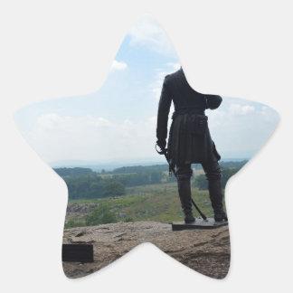 Top redondo grande en Gettysburg Pegatinas Forma De Estrella