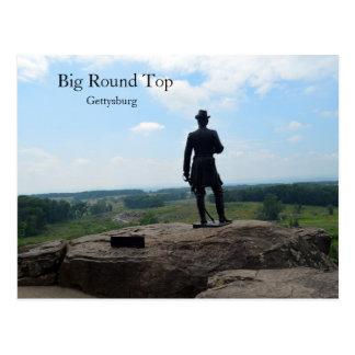 Top redondo grande en Gettysburg Tarjeta Postal