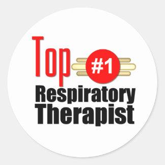 Top Respiratory Therapist Classic Round Sticker