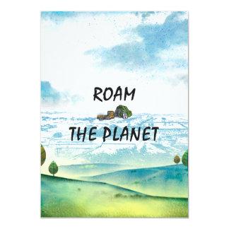 TOP Roam the Planet Card