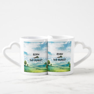 TOP Roam the Planet Coffee Mug Set