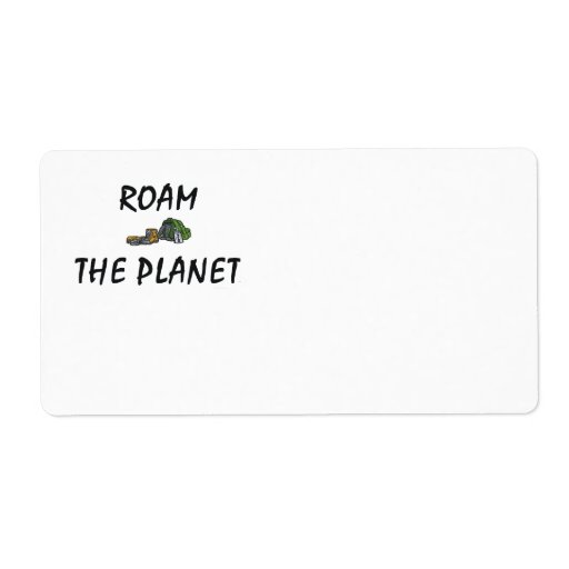 TOP Roam the Planet Custom Shipping Labels