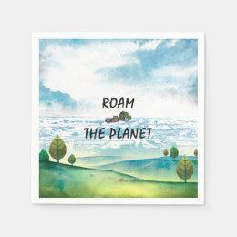 TOP Roam the Planet Paper Napkin