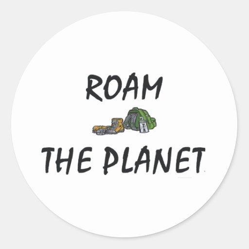 TOP Roam the Planet Sticker