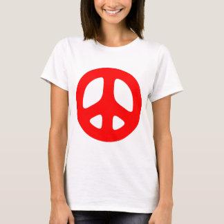 Top rojo grande del signo de la paz
