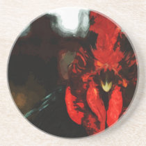 Top Rooster Abstract Coaster
