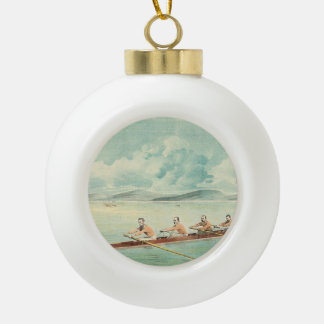 TOP Rower Ceramic Ball Christmas Ornament