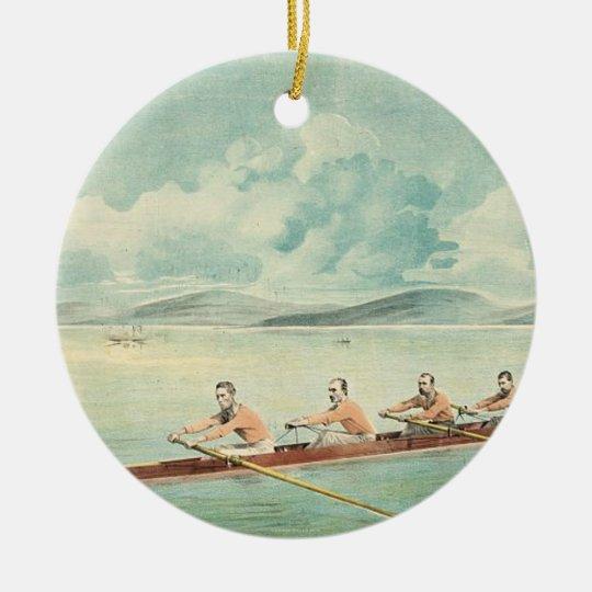 TOP Rower Ceramic Ornament