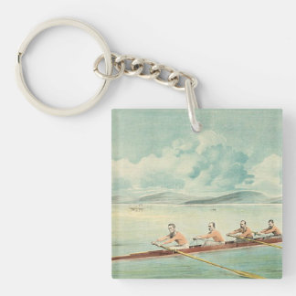 TOP Rower Double-Sided Square Acrylic Keychain