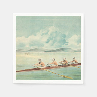 TOP Rower Paper Napkin