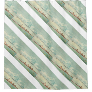 TOP Rower Shower Curtain