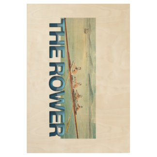 TOP Rower Wood Poster