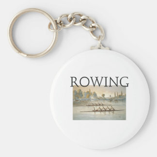 TOP Rowing Basic Round Button Keychain