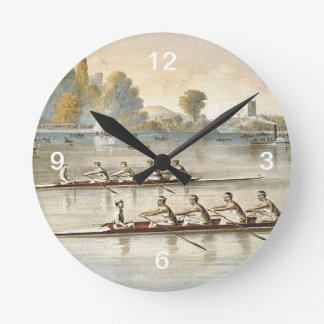 TOP Rowing Round Clock