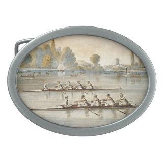 TOP Rowing Oval Belt Buckle