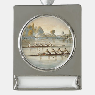 TOP Rowing Silver Plated Banner Ornament
