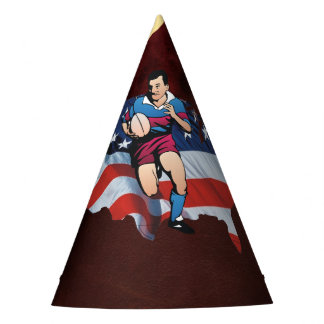 TOP Rugby in the USA Party Hat