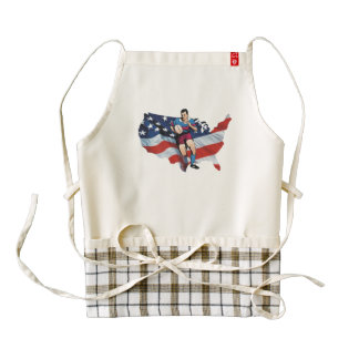 TOP Rugby in the USA Zazzle HEART Apron