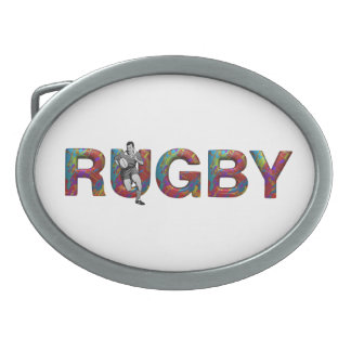 TOP Rugby Oval Belt Buckle