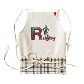 TOP Rugby Zazzle HEART Apron